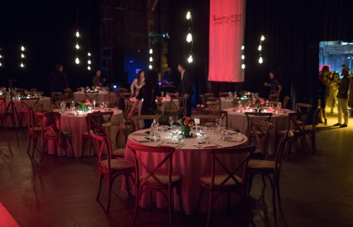 Hamilton dinner in Los Angeles at event space