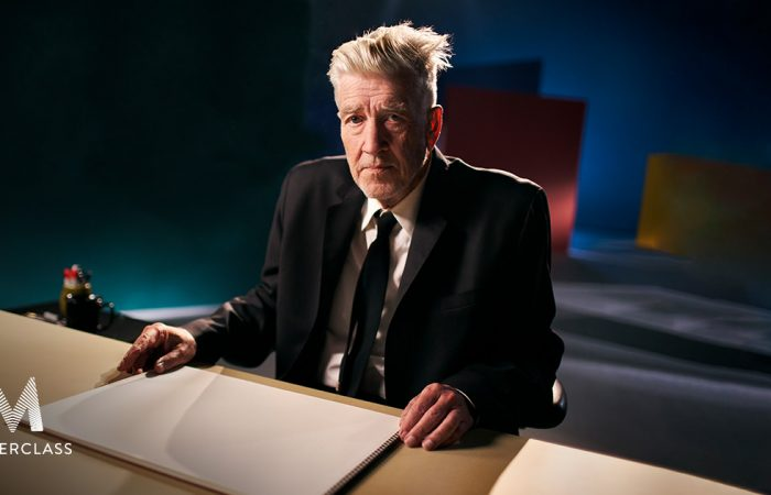 sound stage shoot for masterclass david lynch in los angeles