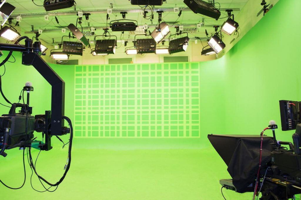 green screen technology is only available in some studio settings